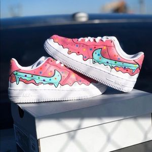 Custom drip Air Force 1s